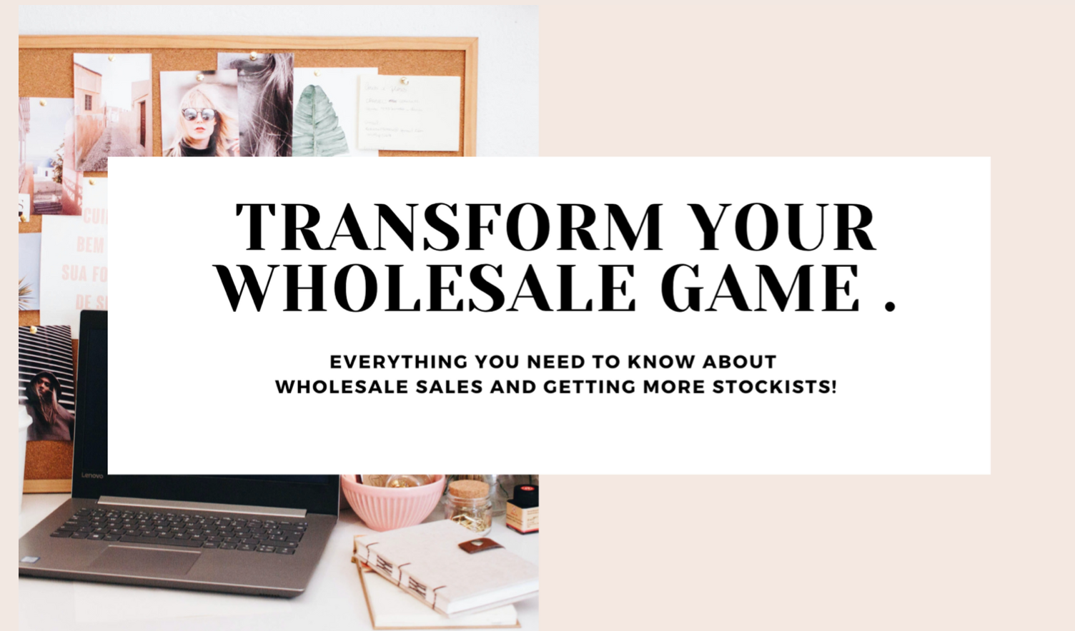 Transform your wholesale game – coaching & workshop series